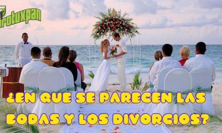¿En Que se parecen las Bodas y Los Divorcios?