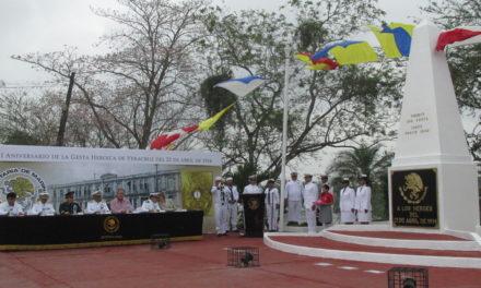 Conmemora Tuxpan la Gesta Heroica de Veracruz de 1914.