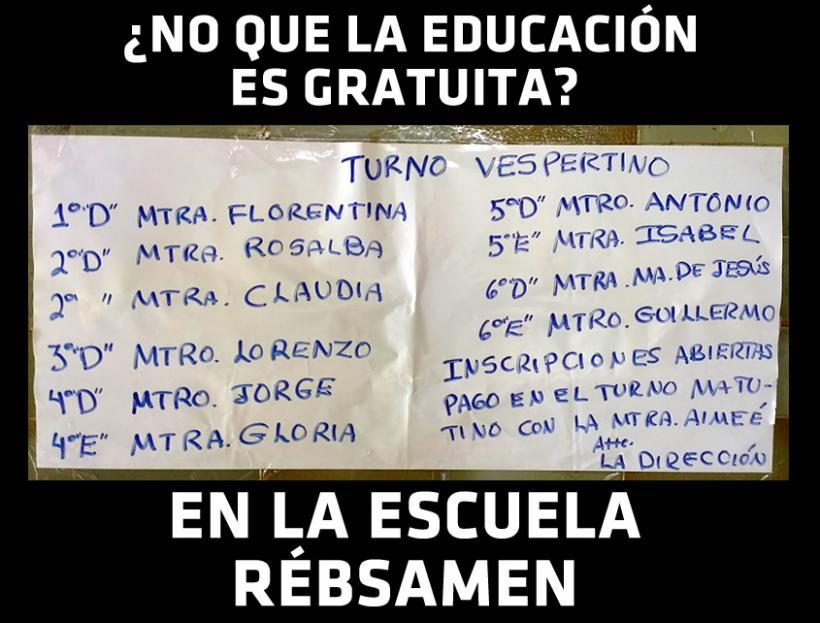 LA EDUCACIÓN GRATUITA: UN MITO EN TUXPAN – ESCUELA ENRIQUE C. RÉBSAMEN