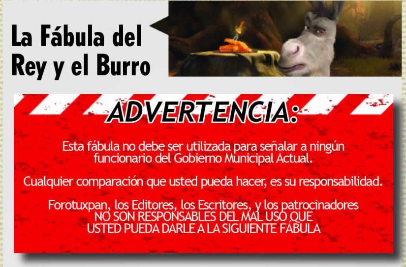 LA FÁBULA DEL REY Y EL BURRO