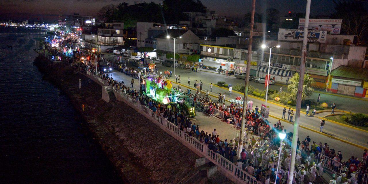 Espectacular cierre de Carnaval Tuxpan 2016