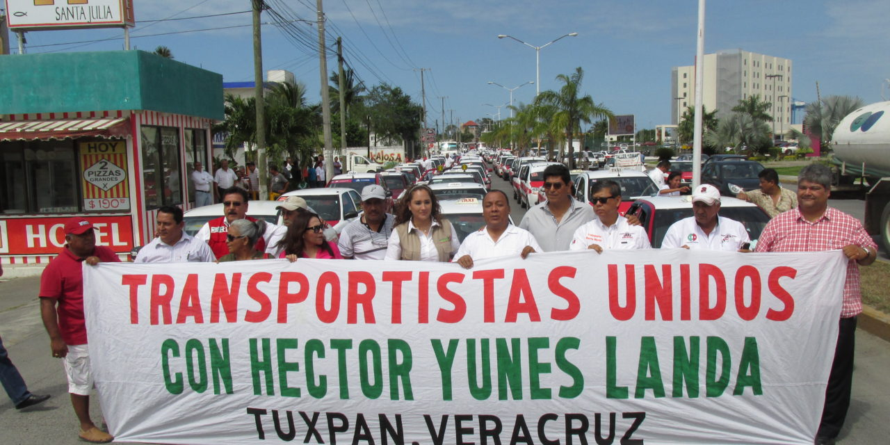 Transportistas manifiestan su apoyo a la coalición «Para mejorar Veracruz»