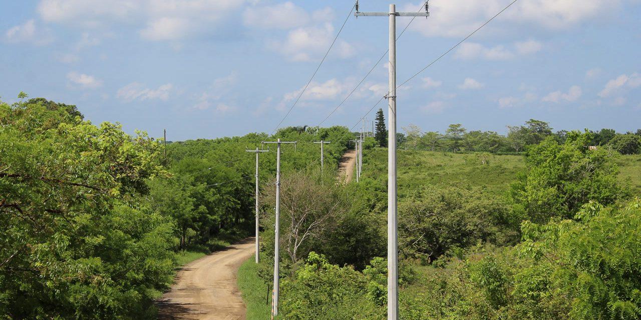 Concluyen trabajos de ampliación de red eléctrica