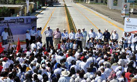 Inauguran segunda etapa de la avenida Lopez Mateos en Tuxpan