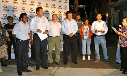 Mas de 500 beneficiados con una nueva pavimentación en Tuxpan