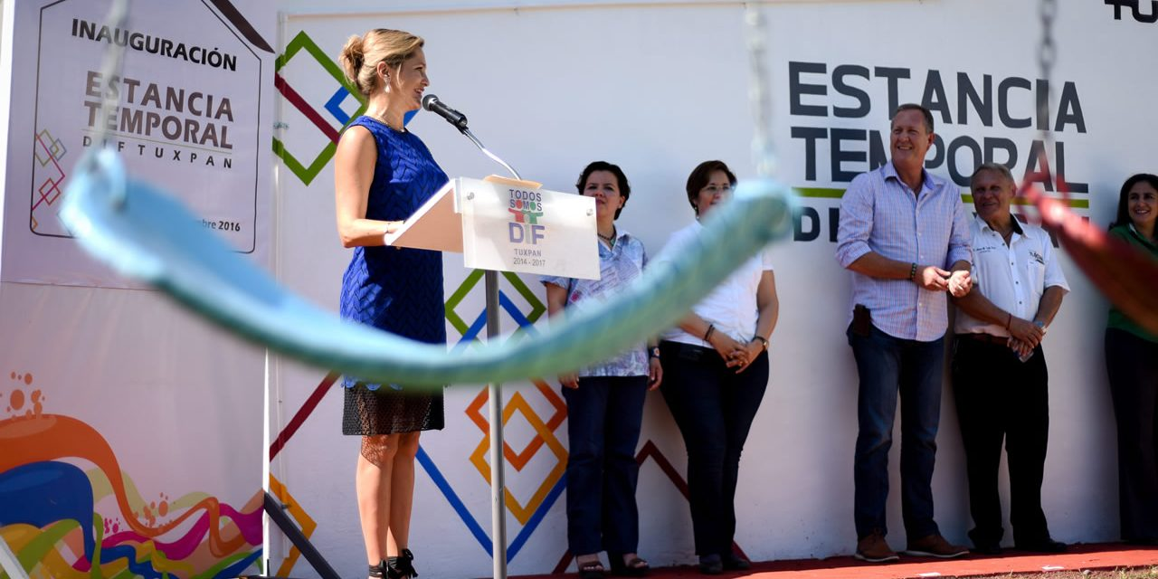 DIF Tuxpan inaugura Estancia Temporal única en su tipo en la zona norte