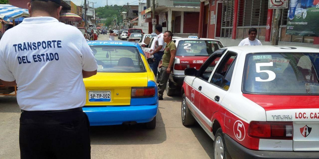 Sancionan a 46 unidades de taxi en la zona norte del estado