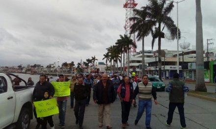 Tuxpeños marcharon en contra del «Gasolinazo»