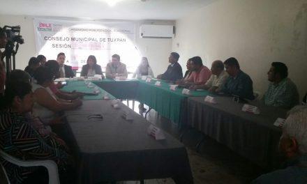 Instalan Consejo Municipal del OPLE Tuxpan