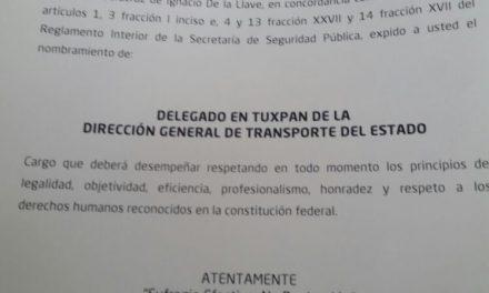 Cambios en la dirección de Transporte Público del Estado en Tuxpan