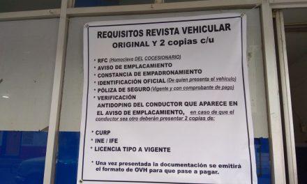 Arranca Revista Vehicular
