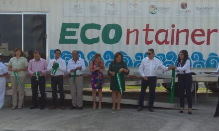 inauguran exhibición del contenedor educativo «ECOntainer»