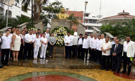 Conmemoran CCXII Natalicio de Benito Juárez