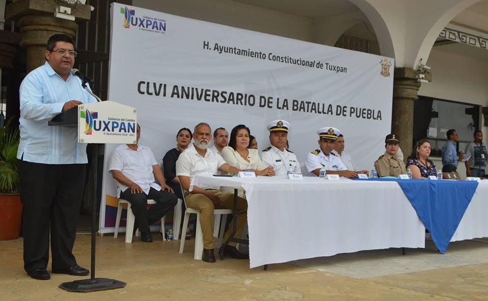 Toño Aguilar conmemora batalla de Puebla