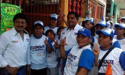 Voy por más recursos para obras básicas en colonias: Clemente Campos