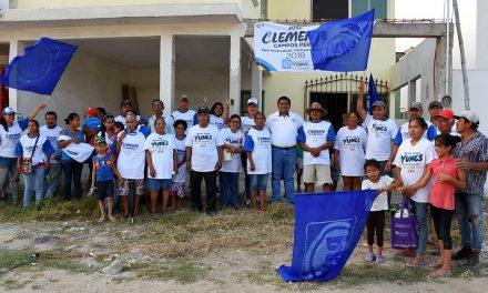 Con cercanía a la gente vamos a ganar: Clemente Campos