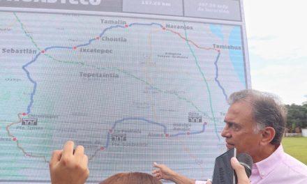 """Supervisa Gobernador Yunes el conjunto de obras de infraestructura denominado """"Circuito Huasteco"""""""