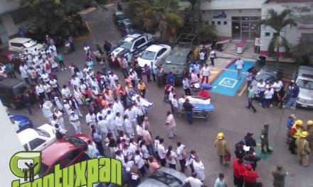 Simulacro de Sismo e Incendio en Hospital Civil de Tuxpan