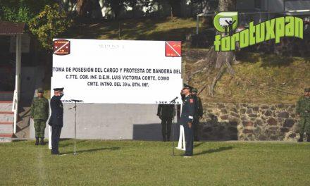 Nuevo Comandante Toma Protesta en el 39 Batallón