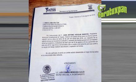 Gobierno municipal denunciará a quien o quienes resulten responsables de falsificar documentos oficiales