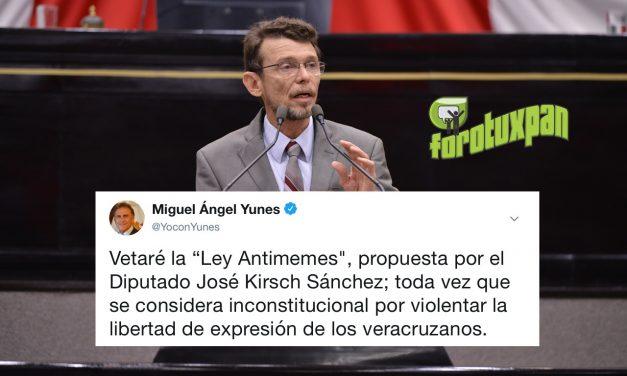 """Vetará el Gobernador Yunes la """"Ley Antimemes», propuesta por el Diputado José Kirsch Sánchez"""