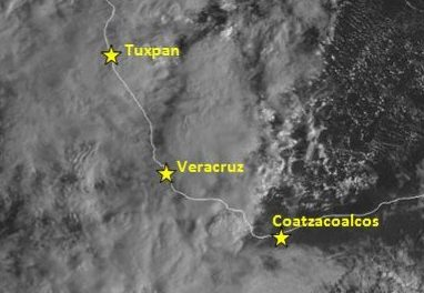 Frente frío 6 Continúa Estacionado Sobre el Golfo de México