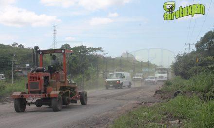 Comienza Reparación de Carretera en la Salida a Tampico