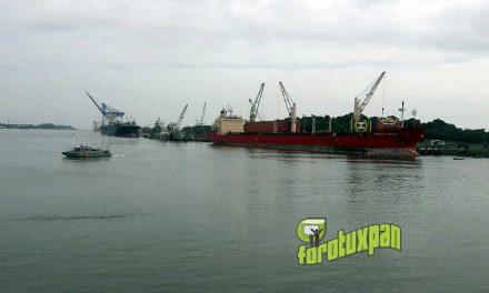 Se incrementa el volúmen de carga en el puerto tuxpeño