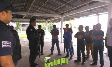 Avanza la conformación de policías auxiliares en Tuxpan