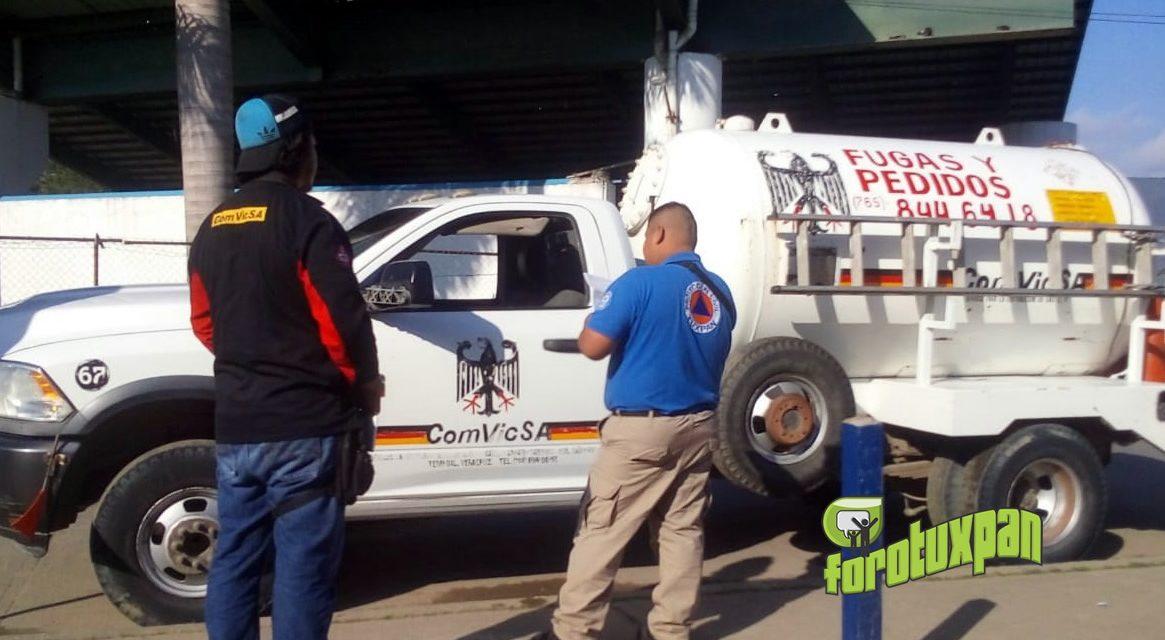 Protección civil revisa a camiones repartidores de GAS LP