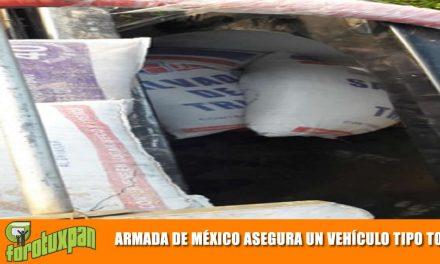 ARMADA DE MÉXICO ASEGURÓ UN VEHÍCULO TIPO TORTON