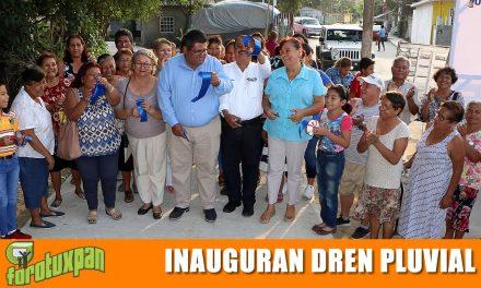 Inauguración de dren pluvial y se anuncia segunda etapa