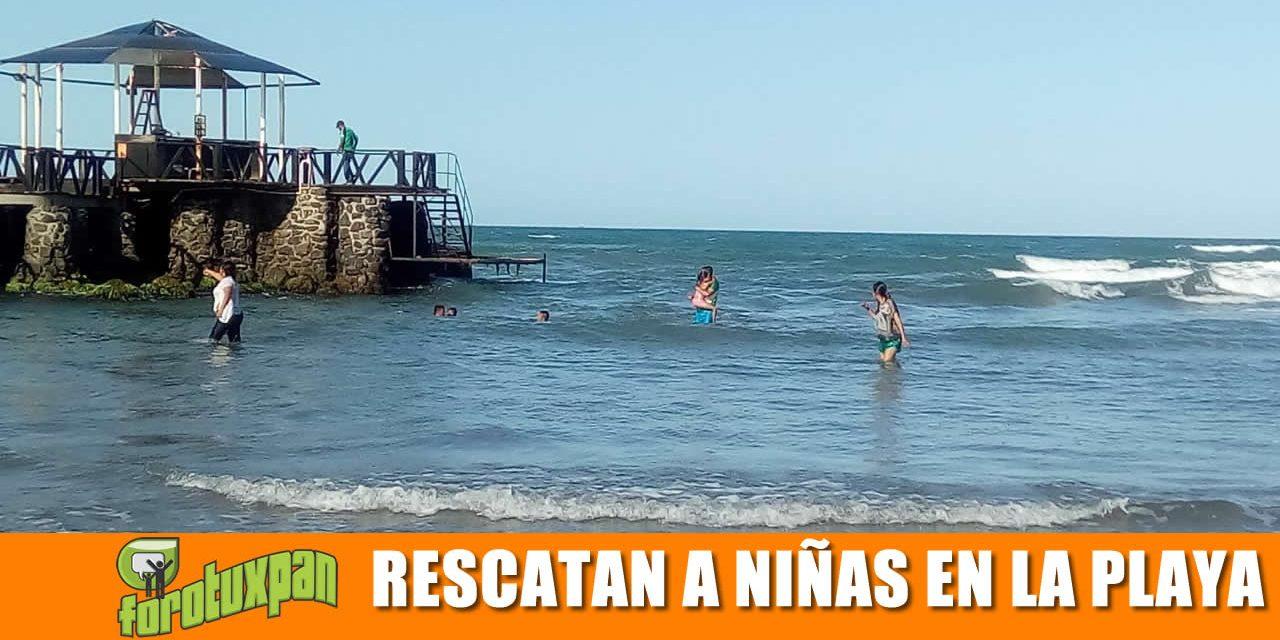 Rescatan a niñas de la Playa