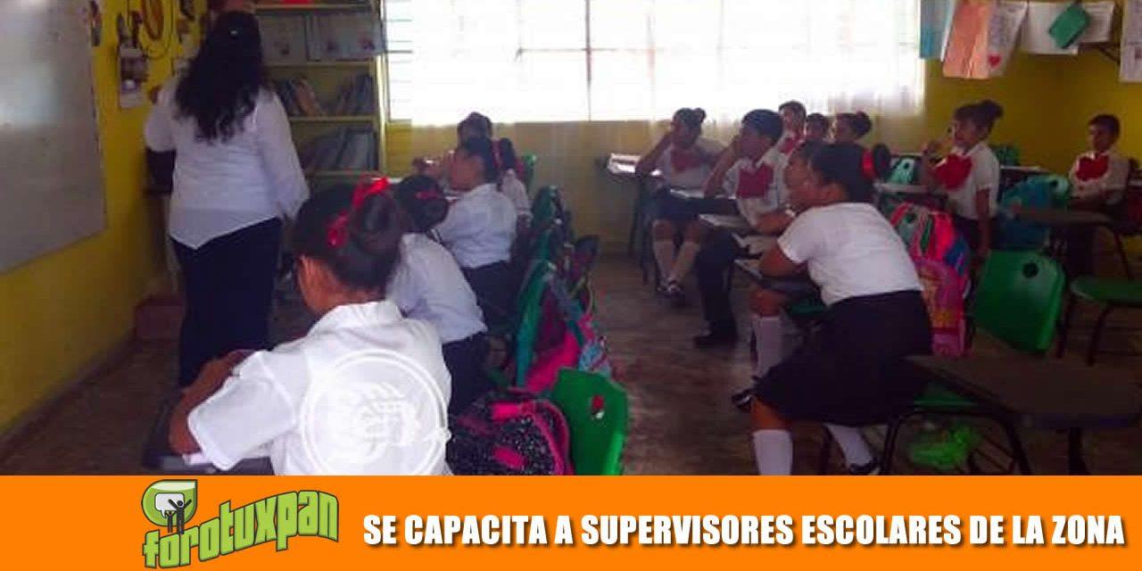 SE CAPACITA A SUPERVISORES ESCOLARES DE LA ZONA