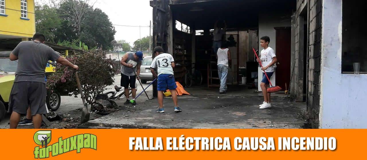 FALLA ELÉCTRICA CAUSA INCENDIO