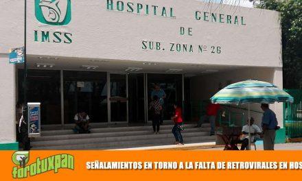 SEÑALAMIENTOS EN TORNO A LA FALTA DE RETROVIRALES EN HOSPITALES