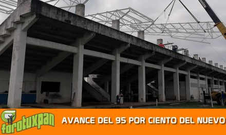 AVANCE DEL 95 POR CIENTO DEL NUEVO TECHADO