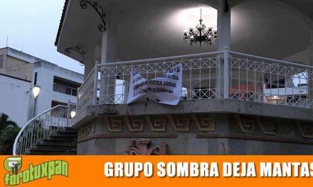 Grupo Sombra deja Mantas en la Ciudad
