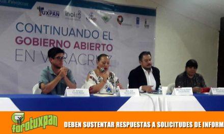 DEBEN SUSTENTAR RESPUESTAS A SOLICITUDES DE INFORMACION