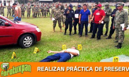 FGE, SEDENA Y SEMAR REALIZAN PRÁCTICA DE PRESERVACIÓN DE LA ESCENA DEL CRIMEN