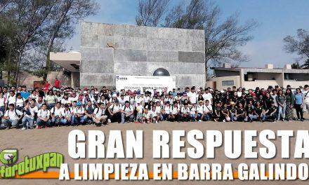 Gran respuesta a limpieza de playa Barra Galindo