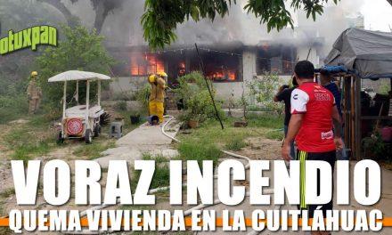 Voraz Incendio Quema Vivienda en la Cuitláhuac