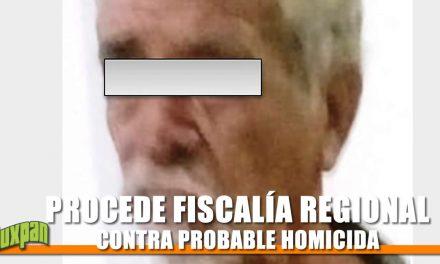 PROCEDE FISCALÍA REGIONAL TUXPAN CONTRA PROBABLE HOMICIDA