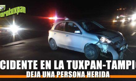 Accidente en la Tuxpan-Tampico deja una persona herida