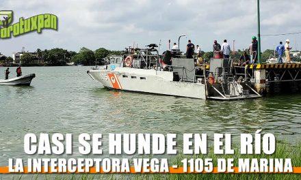Casi se hunde Interceptora VEGA-1105 de Marina frente al Sector Naval