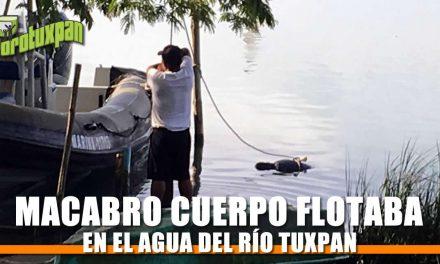 Macabro cuerpo flotaba en el Río Tuxpan