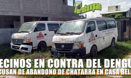 Vecinos de Casa Bella en contra del Dengue denuncian ABANDONO DE CHATARRA