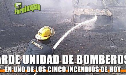 Arde Unidad de Bomberos