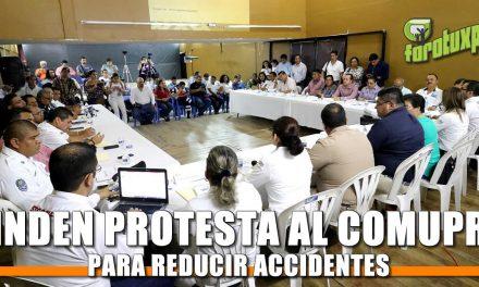 Rinden protesta al COMUPRA Tuxpan