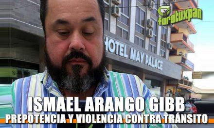 Ismael Arango Gibb: Prepotente y violento contra elementos de Tránsito